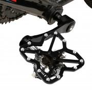 Sola Bicicleta De Carretera A Pedales Clipless De Plateadoforma Universal De Adaptador Para Bicicleta MTB Shoes, Size: Large (negro)