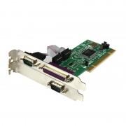 StarTech Placa Adaptadora PCI de 2 Portas Serie DB9 UART 16550 + Porta Paralela