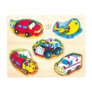 Zenélő fa puzzle, járművek