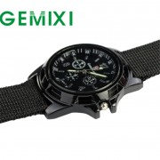 Fantastic 2016 Outdoor Army Style Fashion Sport Watches Gemius Racing Force Military Men Fabric Band Watch relogio masculino