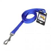 Hundkoppel av nylon blått 15mm x 180cm