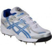 Proase Spikes Cricket Shoes For Men(White, Blue)
