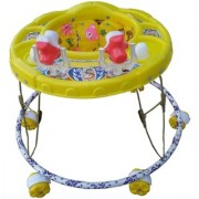 Oh Baby Baby Round Shape 2 Big Rattle Yellow Color Walker For Your Kids SE-W-88