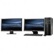 HP Pro 6300 Tower - Intel Core i7 - 4GB - 500GB HDD + Dual 2x 24'' Widescreen LCD