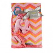 Blankets and Beyond Pink Elephant Blanket