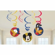 6 spirale decorative Mickey Mouse party