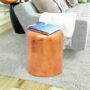 vidaXL Krukje/bijzettafeltje gehamerd aluminium brons/koperkleurig