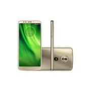 Smartphone Motorola Moto G6 Play 32GB Ouro 4G - 3GB RAM Tela 5.7 Câm. 13MP + Câm. Selfie 8MP