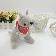 Mr. Bear & His Friends 28CM Cute kangaroo Plush Stuffed Animals Soft Toys Kangaroos with scarf Children Kids Baby Toy Playing Dolls Gifts - Grey Body With Red Scarf