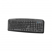 Teclado Acteck AT-3200 Multimedia USB UETE-164-Negro