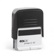 Szövegbélyegző Printer C10 fekete ház kék párnával 10x27 mm