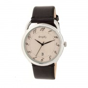 Simplify The 4900 Leather-Band Watch w/Date - Silver/Bronze/Black SIM4902