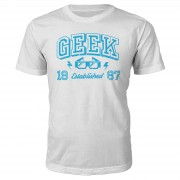 The Geek Collection Camiseta Geek Established 1980 - Hombre - Blanco - L - 1987