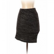 Banana Republic Casual Skirt: Black Solid Bottoms - Size 2X-Small Petite