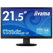 IIYAMA x2283hs-B3 54,61 cm (21,5 inch) LED monitor Zwart