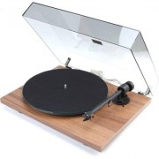 Pro-Ject T1 Walnut turntable w/ Ortofon OM5e cartridge