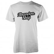 Abandon Ship Camiseta Abandon Ship Bubble Logo - Hombre - Blanco - L - Blanco