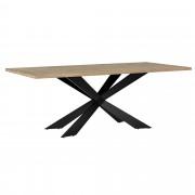 [en.casa]® Mesa de comedor 6-8 personas roble natural 200x100cm mesa de cocina rectangular madera