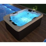 Whirlpool Outdoor Whirlpool Hot Tub Spa Luzern 195x135 cm mit 41 Massage Düsen + Heizun...