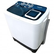 Masina de spalat rufe semiautomata Heinner HSWM-AD65BL,6.5 Kg, 4.6 Kg, Alb Albastru