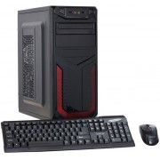 Calculator Sistem PC (Procesor Intel® Core™ i5-2400 (6M Cache, up to 3.40 GHz), Sandy Bridge, 8GB DDR3, 120GB SSD + 500GB HDD, DVD-RW, Cadou Tastatura + Mouse, Negru)
