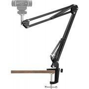 "Webcam Stand - 14 Inch Suspension Scissor Durable Arm with Aluminum Desk Clamp Mount - Built-in 1/4"" Screw for Logitech Webcam C930e,C930,C920, C922x,C922, Brio 4K, C925e,C615 by Pipishell"