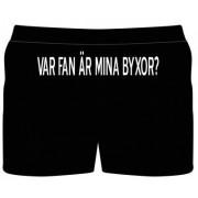 """Boxershorts med trycket """"Var fan är mina byxor"""" (S)"""
