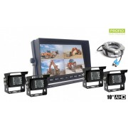 "Univerzalne couvací kamera Set 10"" HD monitor + 4x HD IR kamera"