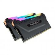 Corsair Vengeance RGB PRO 32Gb 2x16Gb DDR4 3200MHz C16 XMP 2.0 Kit di Memoria Illuminato Rgb Led Entusiasta Nero