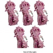 Alpha Multicolor Plastic Electric Rice Light Bulbs With Assorted colors Approx 5 mtr Pack Of 5 ( 35 Pieces)