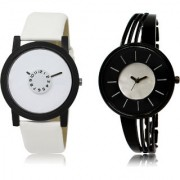 The Shopoholic White Black Silver Combo Latest Collection Fancy And Attractive White And Black And Silver Dial Analog Watch For Boys And Girls Watches For Boy