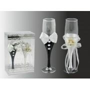 Esküvői pezsgőspohár 2