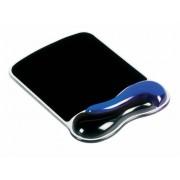 Egéralátét csuklótámasszal, géltöltésű, KENSINGTON DuoGel, fekete-kék (BME62401)