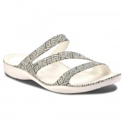 Crocs Klapki CROCS - Swiftwater Graphic Sandal W 204461 Grey Diamond/White
