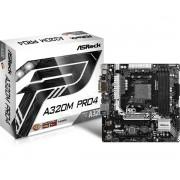 MB ASRock A320M Pro4 , AM4, micro ATX, 4x DDR4, AMD A320, VGA, DVI-D, HDMI, 36mj (90-MXB540-A0UAYZ)