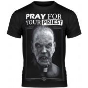 Herren T-Shirt Hardcore - PRAY FOR YOUR PRIEST - AMENOMEN - OMEN147KM
