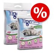 Dubbelpak Tigerino Canada Kattenbakvulling - zonder Parfum (2 x 12 kg)