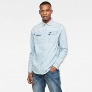 G-star RAW Hommes 3301 Straight Shirt Bleu clair