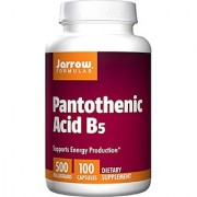 Jarrow Formulas Pantothenic Acid B5 Supports Energy Production 500 mg 100 Capsules (Pack of 12)