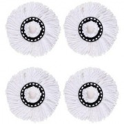 Pack of 4 Replacement Head Refill for 360 Rotating Easy Mop Magic Mop Spin Mop Cleaner Duster (Multicolor)