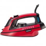 Fier de calcat Daewoo DSI3000R, 3000 W, Talpa ceramica, Abur vertical, Anti-calcar, Auto-curatare, 280 ml, 40 gr/min, Oprire automata, Rosu/Negru