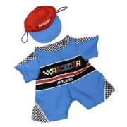 """Racecar Outfit with Cap Fits Most 14"""" - 18"""" Build-a-bear, Vermont Teddy Bears, and Make Your Own Stu"""