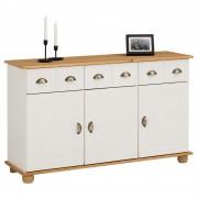 IDIMEX Apothekerkommode COLMAR, Kiefer massiv, weiß/braun