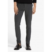 casual friday Donkergrijze chino - slim fit