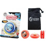 Duncan PROYO YoYo (Blue) Pro String Trick YoYos with Travel Bag! Pro YoYos For Kids and Adults
