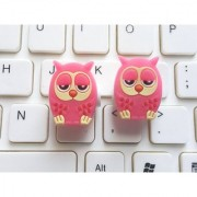 Smile Pick 1 Pair of Owl Cartoon Character USB Cable Saver for iPhone iPod Ear Phone.(2 Pieces)
