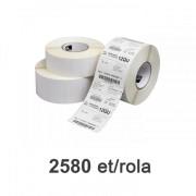 Role de etichete Zebra Z-Select 2000D 102x25mm, 2580 et./rola