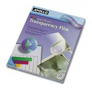 Color Laser Transparency Film W/o Sensing Stripe, Letter, Clear, 50/box