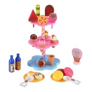 Sweet Treats Ice Cream and Desserts Tower - Play Food Toy Set for Kids