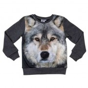 Geen All-over print crewneck sweater met wolf voor kinderen